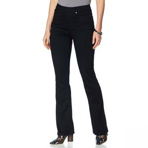 NWT MOTTO Pull On Boot Cut Jeans 10 Black Wash